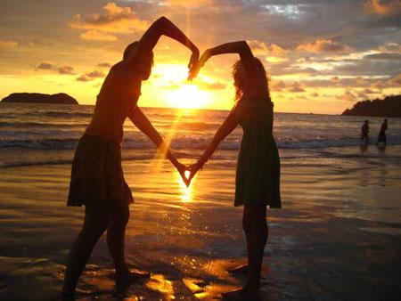 Couple amoureux - coeur